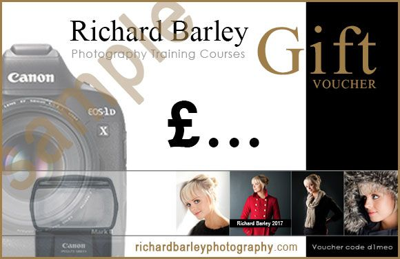 photography training course gift voucher sample